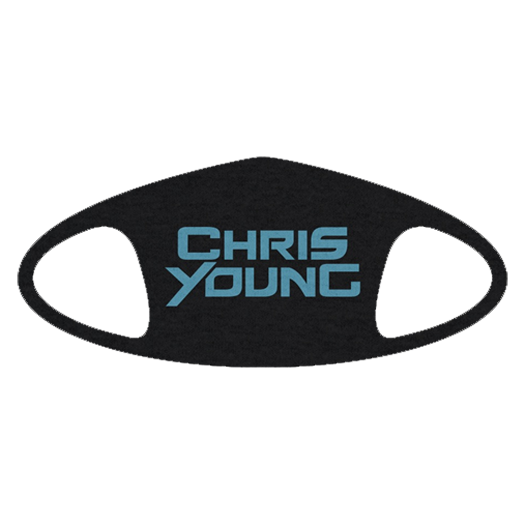 Chris Young Blue Logo Face Mask Pre-Order