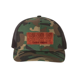 Leather Patch Camo Hat