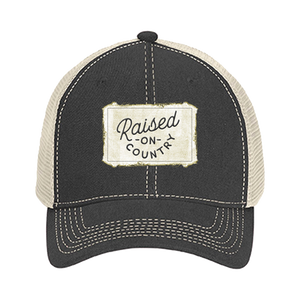 Raised on Country Patch Hat - Gray