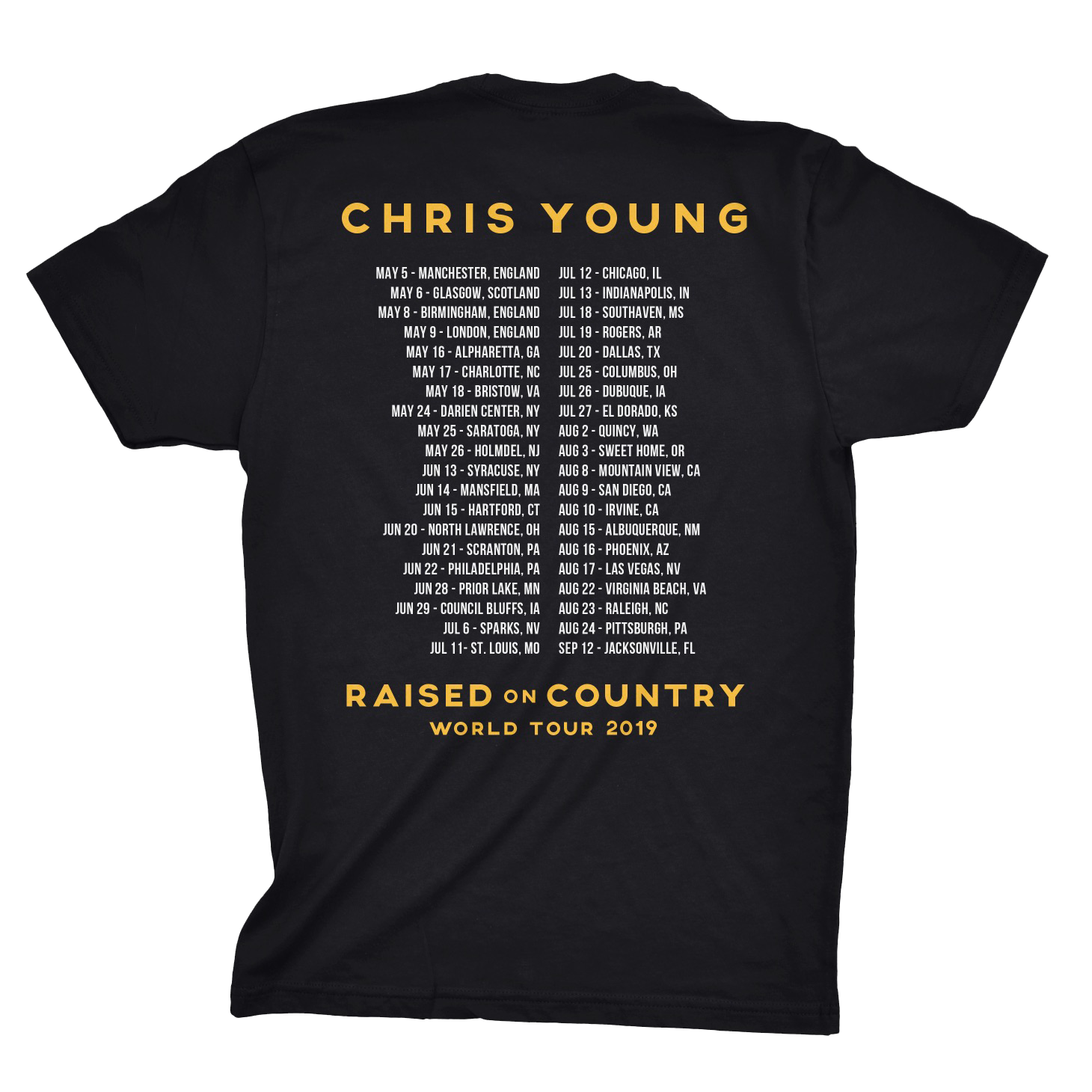 2019 Chris Young World Tour Tee