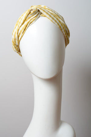 Yellow Checked Headband