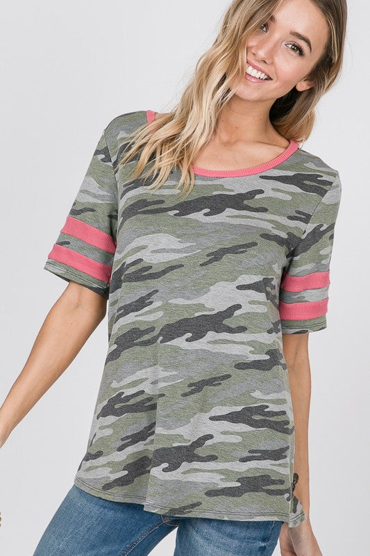 Color Me Pink and Camo Tee