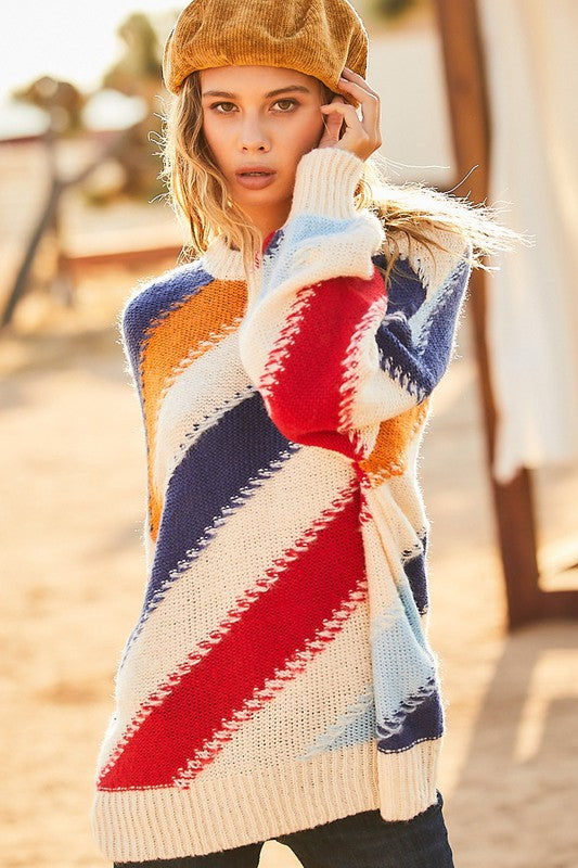 Diagonal Delight Sweater