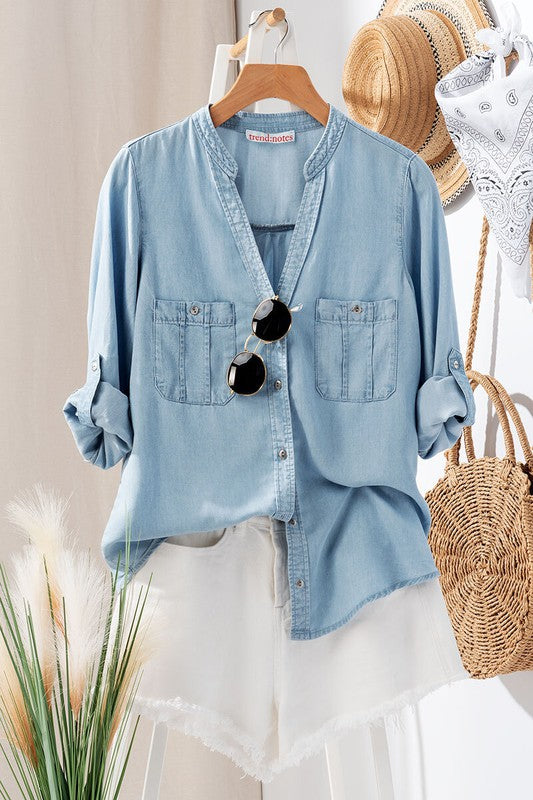 Springtime Denim Shirt