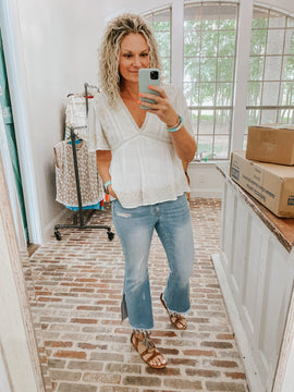 Kick Up Your Heels Flare Jeans