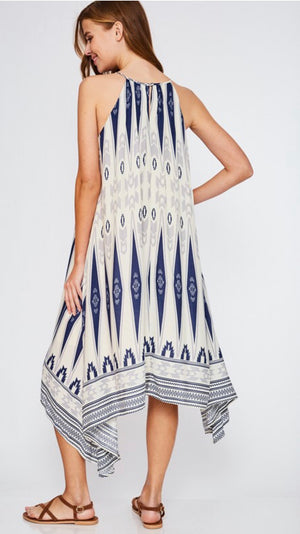 Aztec Draped Dress