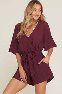 Plum Happy Romper