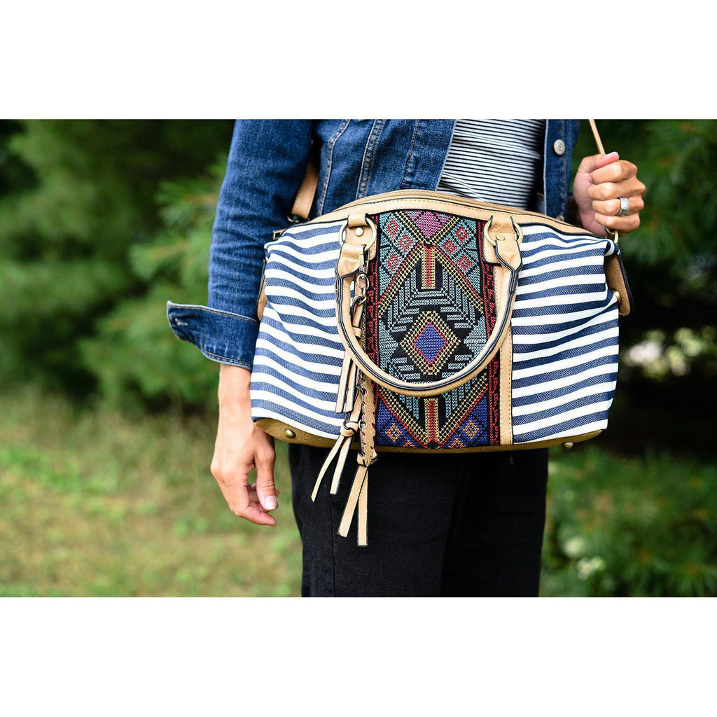 Aztec Striped Bag
