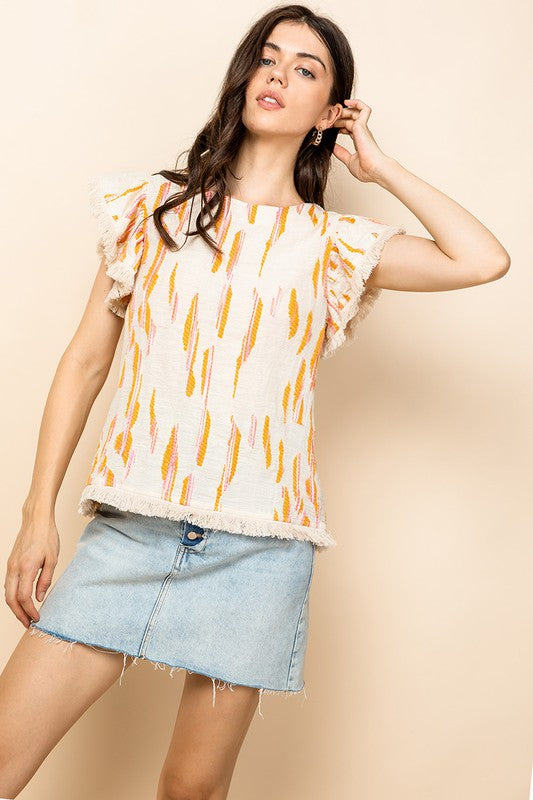 Natural Flutter Top