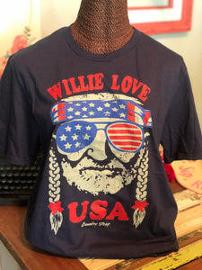 Willie Love USA Tee