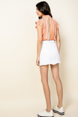Peachy Keen Flutter Top