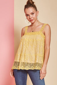 Yellow Field of Daisies Top