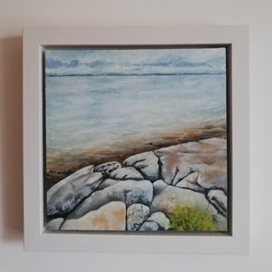Galway Bay from The Flaggy Shore | 25cm x 25cm Framed