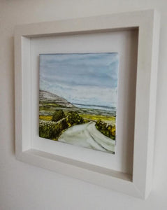 From Clare to Here  (25cm x 25cm Framed) Available for sale at The RussellGallery