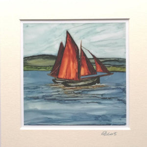 Irish Seascape Prints | Galway Hooker
