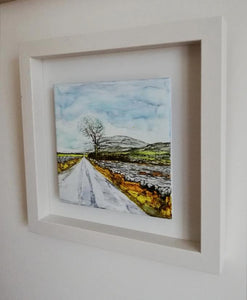The New Line (25cm x 25cm Framed) Available at The Russell Gallery