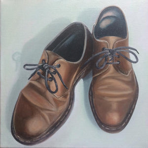 Original Irish Art,  Oil on Canvas Painting, Dr Marten Shoes