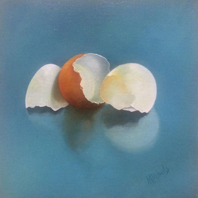 Original Irish Art, Oil on Canvas, Painting, Egg Shells