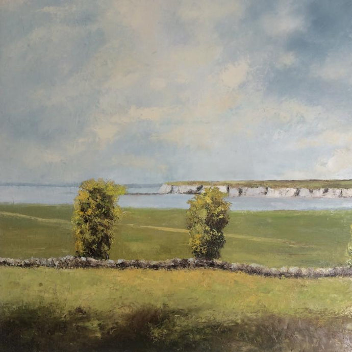 Original Irish Art, Oil on Canvas Painting, Flaggy Shore, Burren, Co Clare