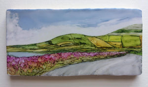 Original Irish Artwork. Alcohol Ink Paintings, West of Ireland, Burren, Wild Atlantic Way