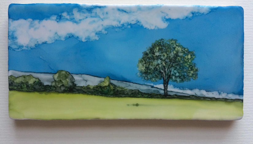 Original Irish Artwork, Alcohol Ink Paintings, West of Ireland, Wild Atlantic Way, hawthorn trees, fairy trees