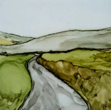 Load image into Gallery viewer, Original Irish Artwork, Alcohol Ink Paintings, West of Ireland, Burren, Wild Atlantic Way, Irish Roads