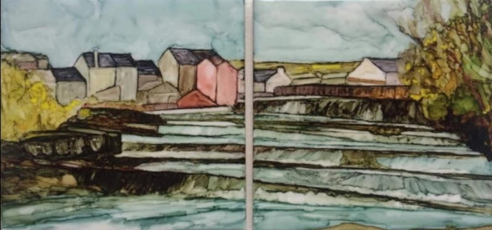 Original Irish Art | The Falls, Ennistymon