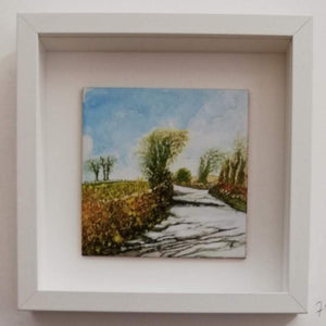 A Road Welk Travelled 20cm x 20cm Framed