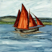 Load image into Gallery viewer, Greeting Card - Galway Hooker