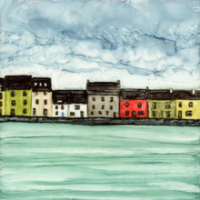 Load image into Gallery viewer, Original Irish Artwork, Alcohol Ink Paintings, The Long Walk, Claddagh, Galway