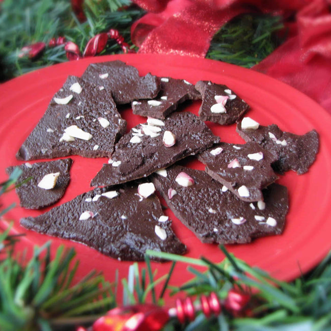 Protein-Packed Candy Cane Bark Recipe
