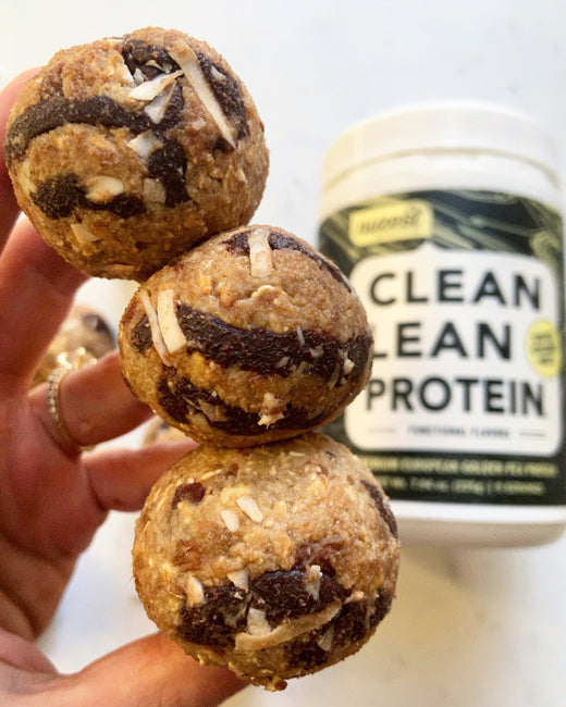 Chocolate Swirl Coffee and Coconut Protein balls