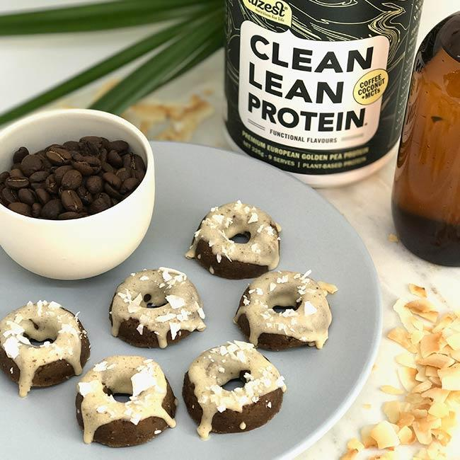 PRE-WORKOUT COFFEE COCONUT MCT PROTEIN DONUTS