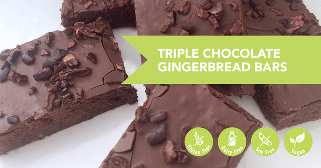 Triple Chocolate Gingerbread Protein Bars Recipe