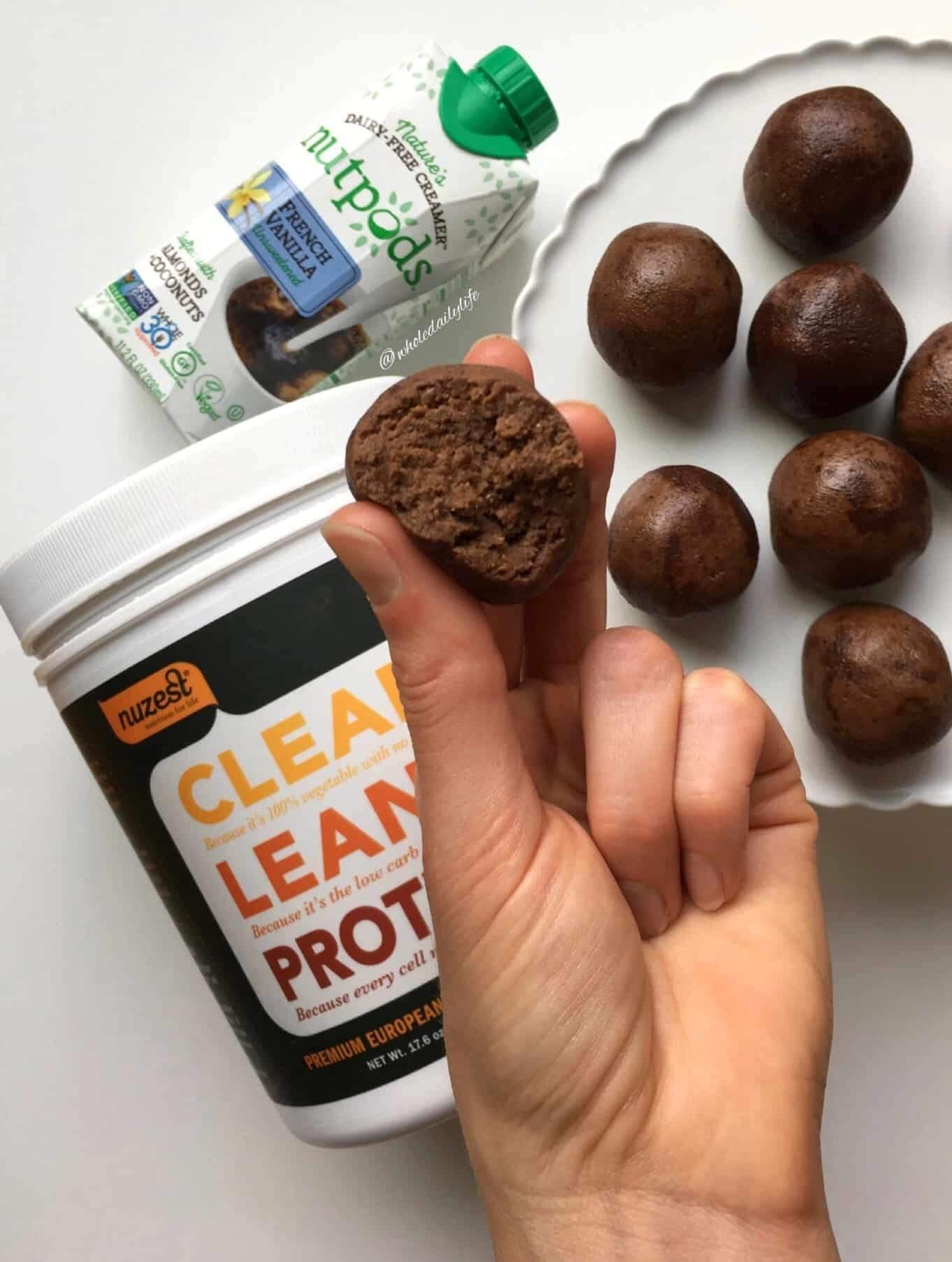 brownie batter protein balls|