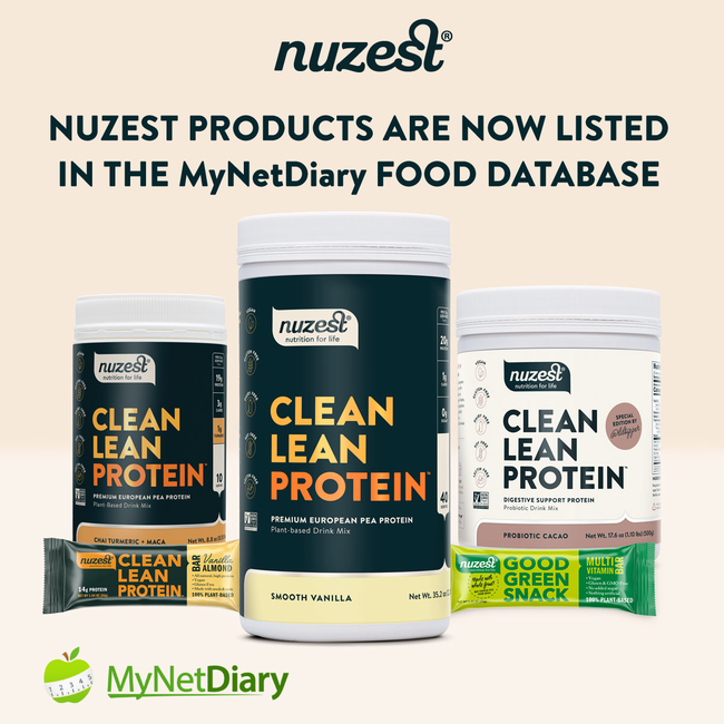 Nuzest Products Are Now Listed in the MyNetDiary Food Database