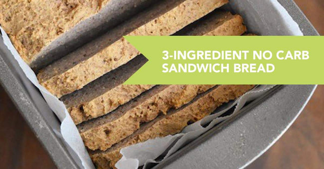 3-Ingredient NO Carb Sandwich Protein Bread Recipe