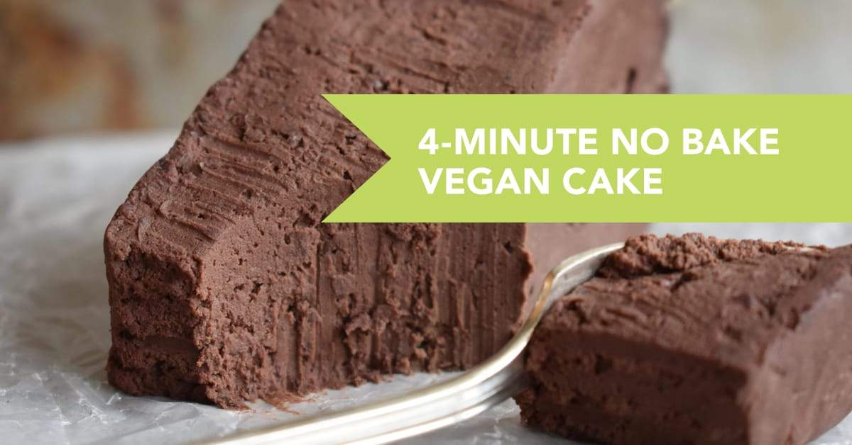 4-Minute No Bake Vegan Cake