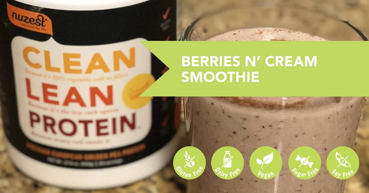 Berries N' Cream Protein Smoothie Recipe