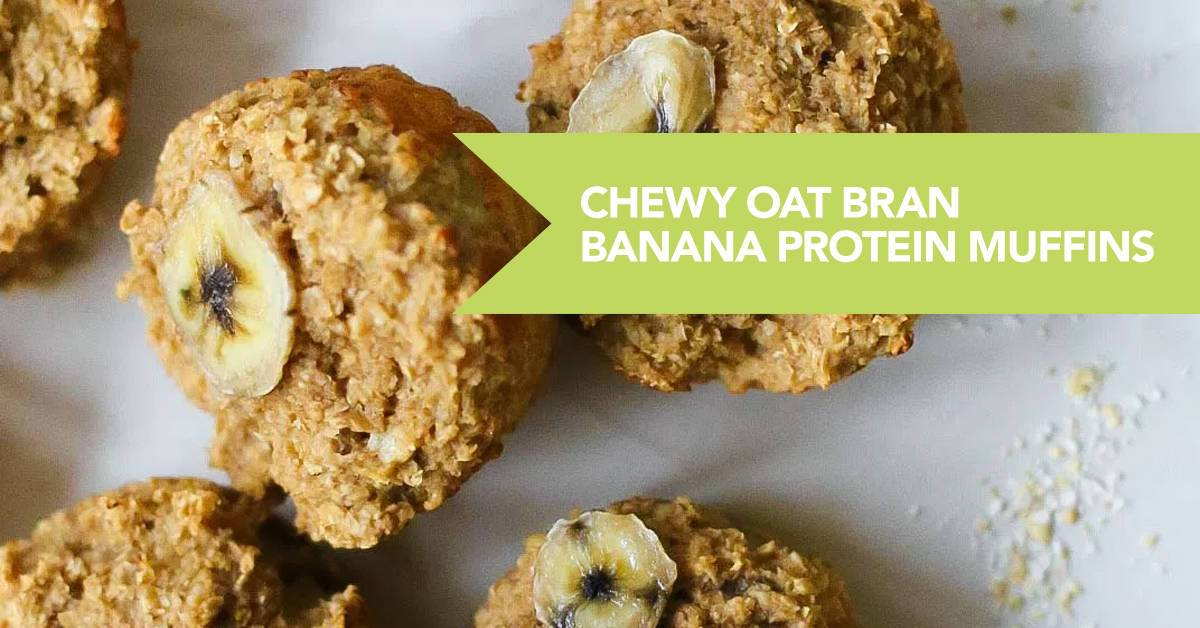 Chewy Oat Bran Banana Protein Muffins Recipe