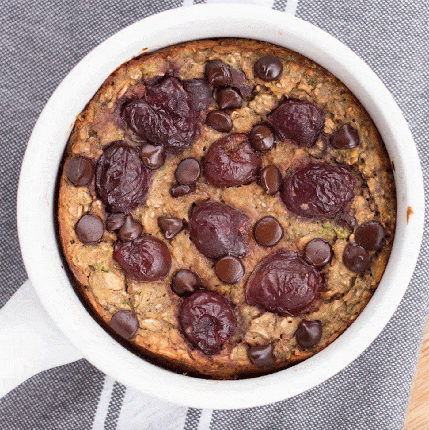 Chocolate Covered Cherry Baked Oatmeal