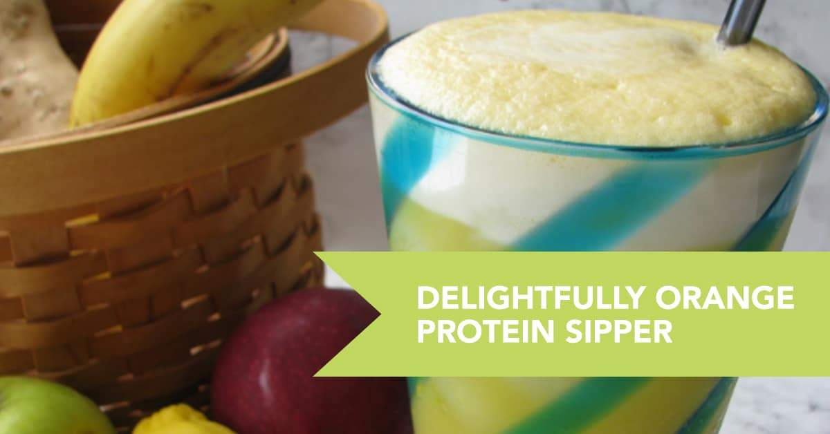 Delightfully Orange Protein Sipper
