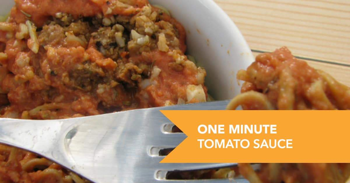 One-Minute Protein Tomato Sauce Recipe