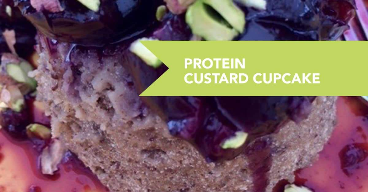 Vegan Protein Custard Cup Cake Recipe