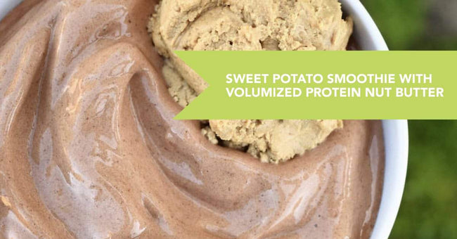 "Sweet Potato Protein Smoothie with Volumized Protein ""Nut Butter"" Recipe"