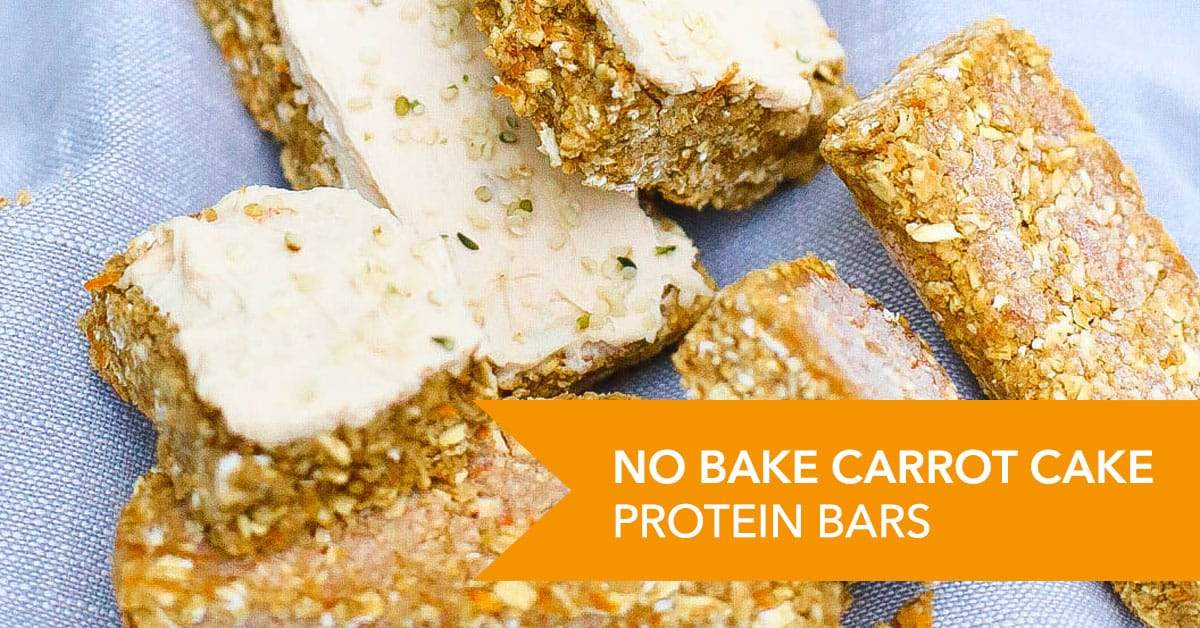 No Bake Carrot Cake Protein Bars