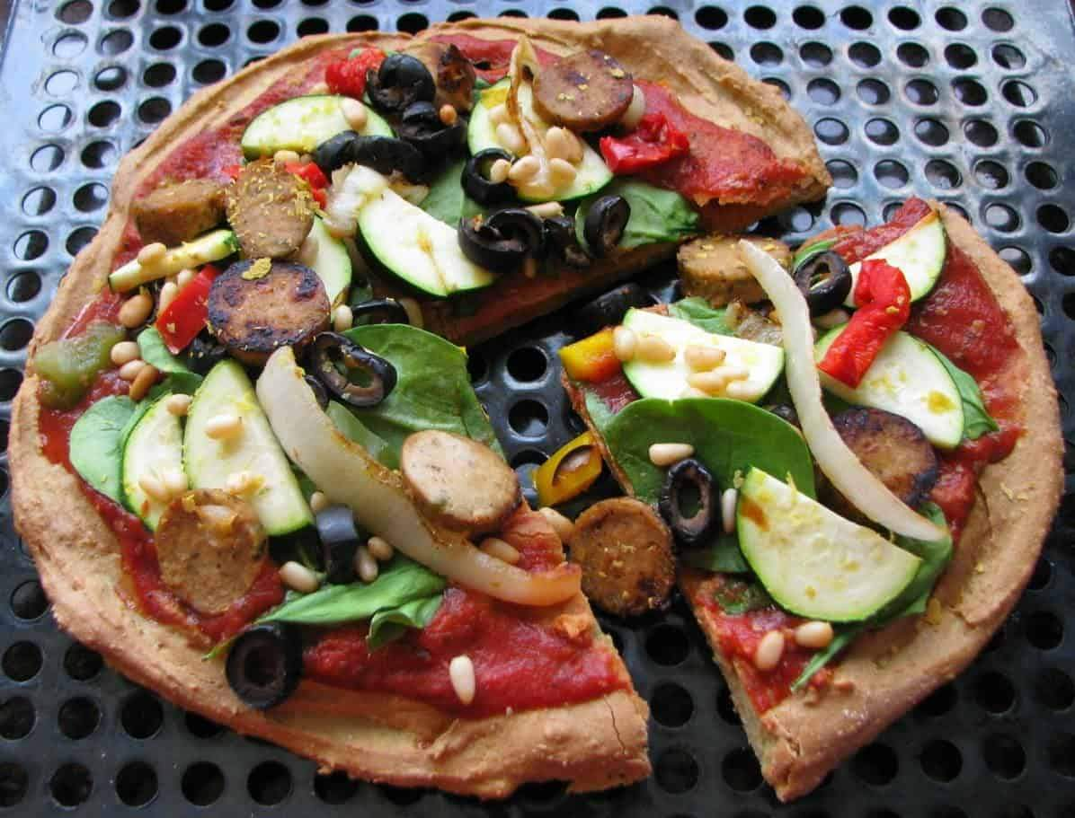 Gluten-Free, Vegan Power Pizza Crust