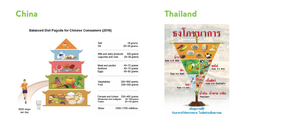 Nutrition Guidelines for China and Thailand