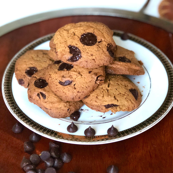 protein vegan chocolate chip cookie