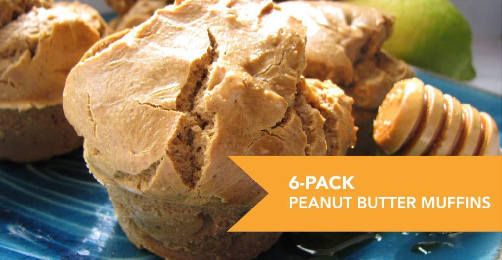 Six Pack Peanut Butter Protein Muffins